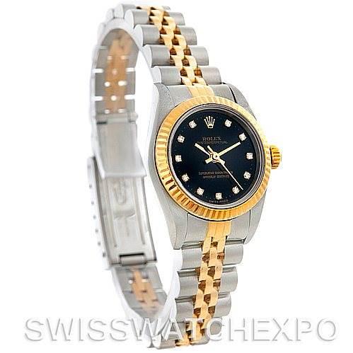Rolex Non-Date Ladies Steel 18k Yellow Gold 76193 Diamond Watch SwissWatchExpo