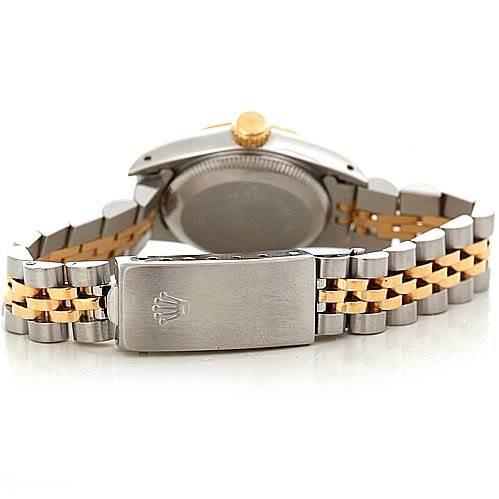 Rolex Ladies Steel 18k Yellow Gold Diamond Watch 67193 SwissWatchExpo