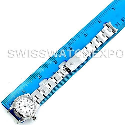 Rolex Non Date Ladies Steel 18k White Gold 76094 Watch SwissWatchExpo