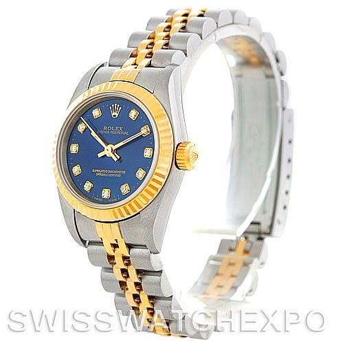 Rolex Non Date Ladies Steel 18k Yellow Gold Diamond Watch 76193 SwissWatchExpo