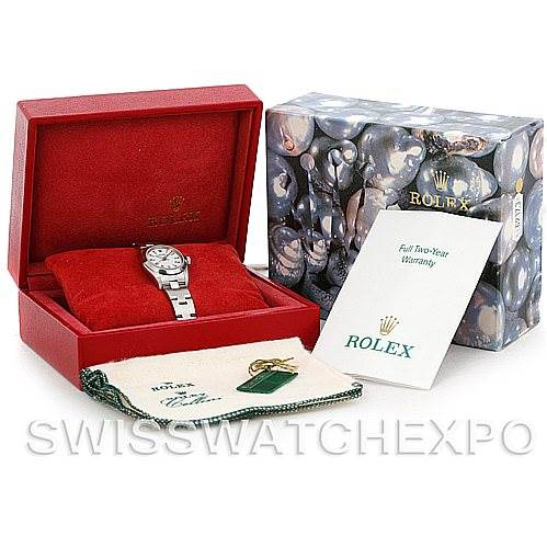 5656 Rolex Oyster Perpetual Nondate Ladies Steel Watch 76080 SwissWatchExpo