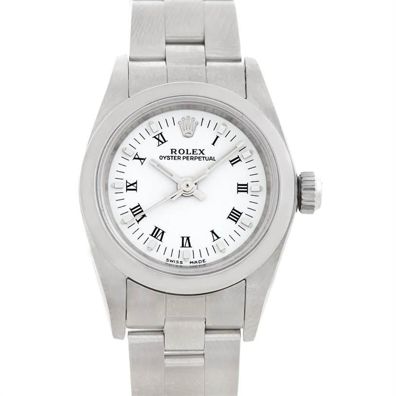 5656 Rolex Oyster Perpetual Nondate Ladies Steel Watch 76080 SwissWatchExpo