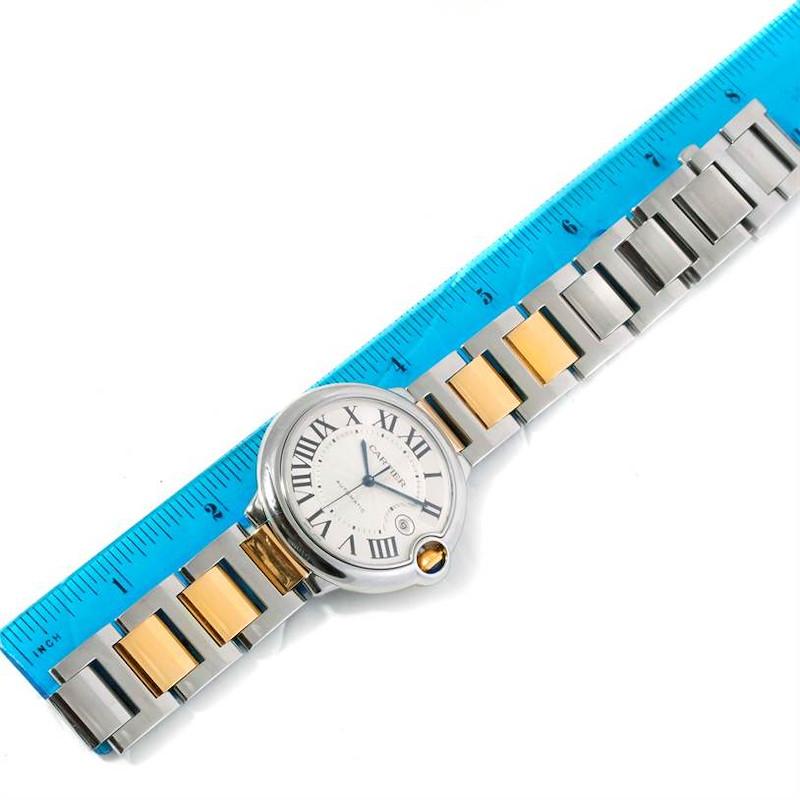 Cartier Ballon Bleu Steel Yellow Gold Automatic Mens Watch W69009Z3 SwissWatchExpo