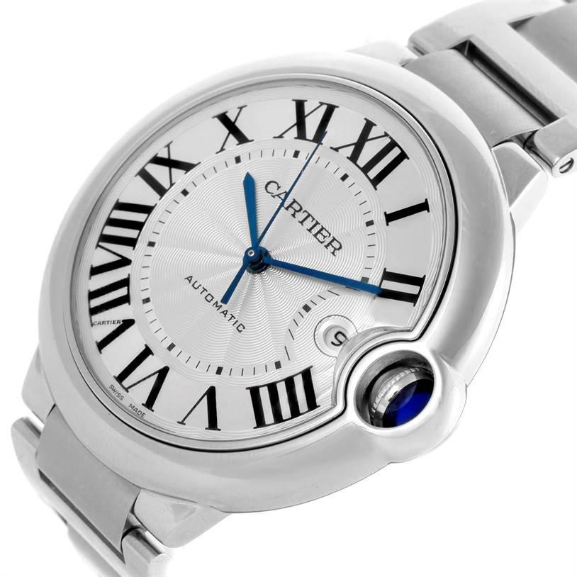 8630 Cartier Ballon Bleu Mens Stainless Steel Automatic Watch W69012Z4 SwissWatchExpo