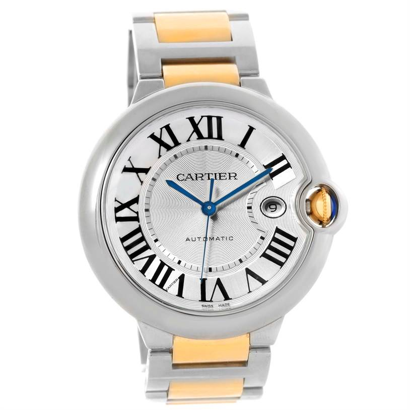Cartier Ballon Bleu Steel Yellow Gold Automatic Mens Watch W69009Z3 SwissWatchExpo