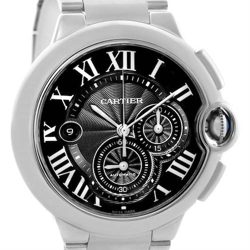 Photo of Cartier Ballon Bleu Mens XL Steel Chronograph Watch W6920077