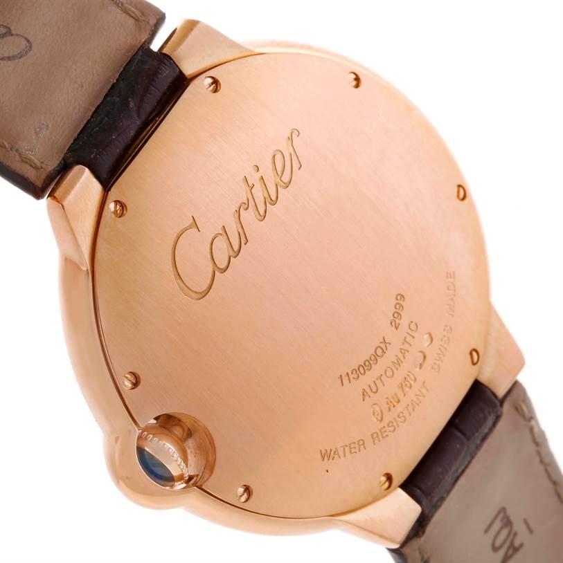 10952P Cartier Ballon Bleu 18K Rose Gold Brown Dial Watch W6920037 SwissWatchExpo