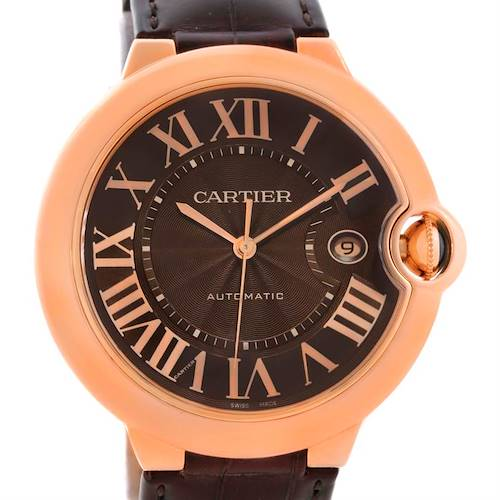 Photo of Cartier Ballon Bleu 18K Rose Gold Brown Dial Watch W6920037