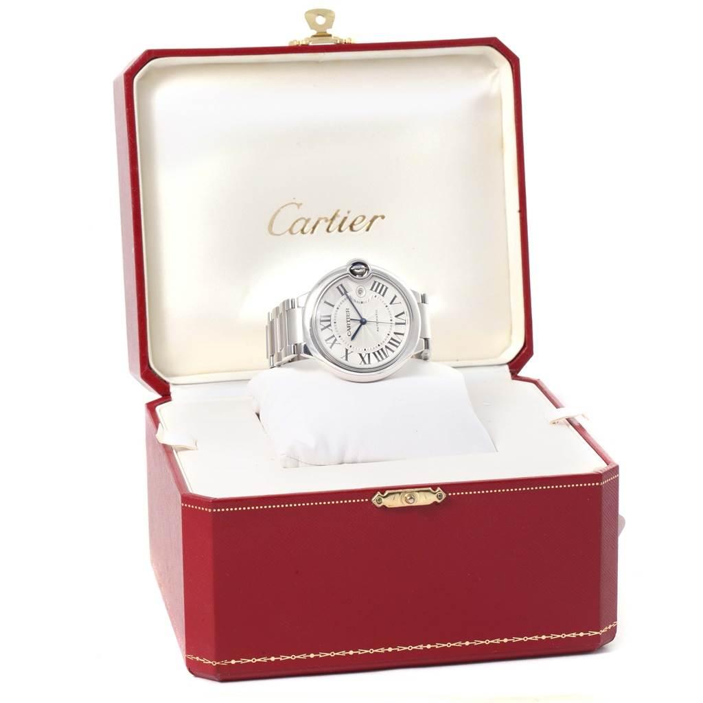 12237 Cartier Ballon Bleu 42mm Stainless Steel Automatic Mens Watch W69012Z4 SwissWatchExpo