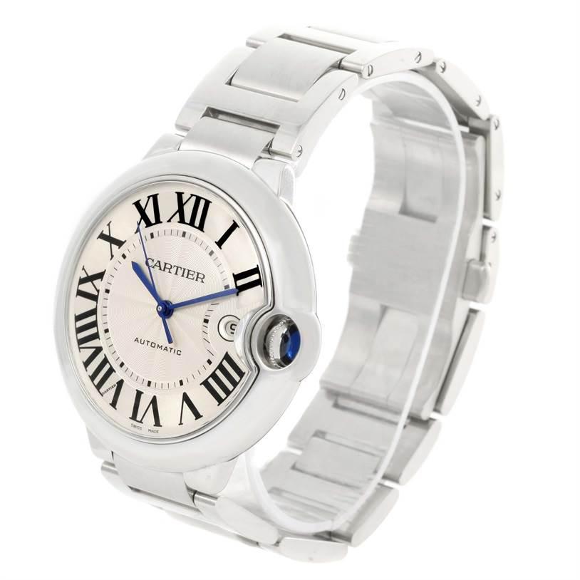 12239 Cartier Ballon Bleu Mens Stainless Steel Automatic Watch W69012Z4 SwissWatchExpo
