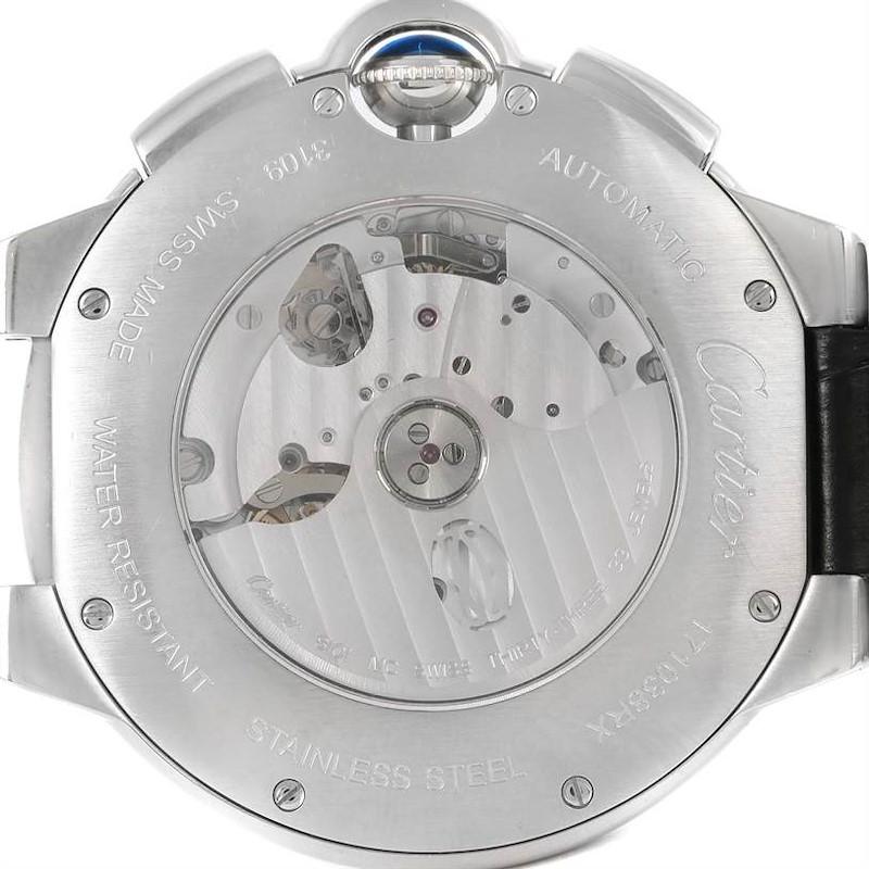 Cartier Ballon Bleu Steel Black Dial Chronograph Mens Watch W6920052 SwissWatchExpo