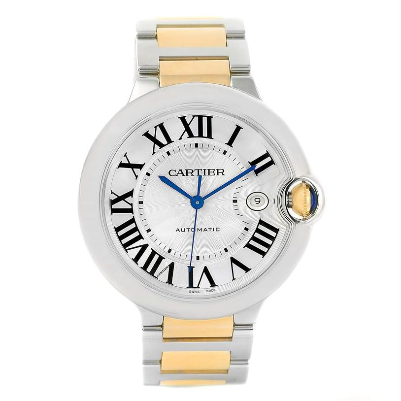 13219 Cartier Ballon Bleu Steel Yellow Gold Mens Watch W69009Z3 Box Papers SwissWatchExpo