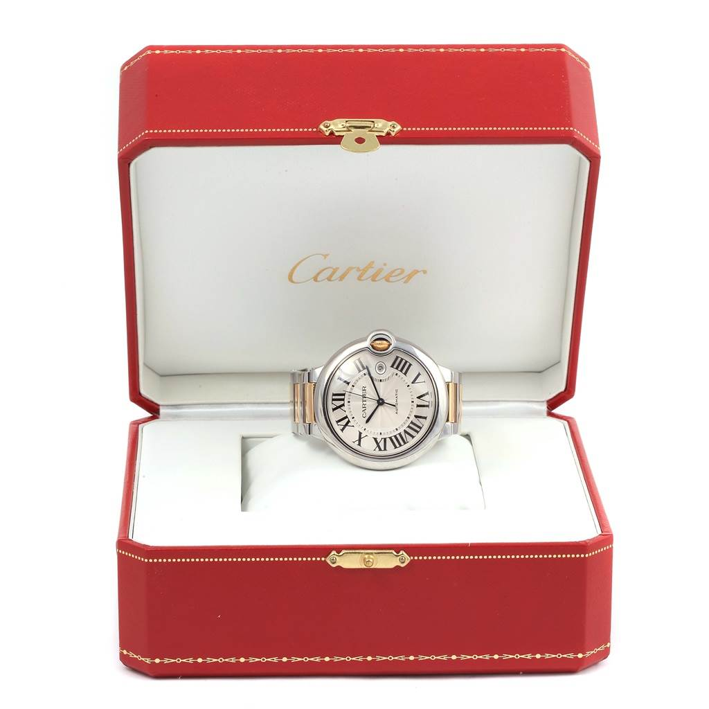14893P Cartier Ballon Bleu Steel 18K Yellow Gold Unisex Watch W69009Z3 SwissWatchExpo
