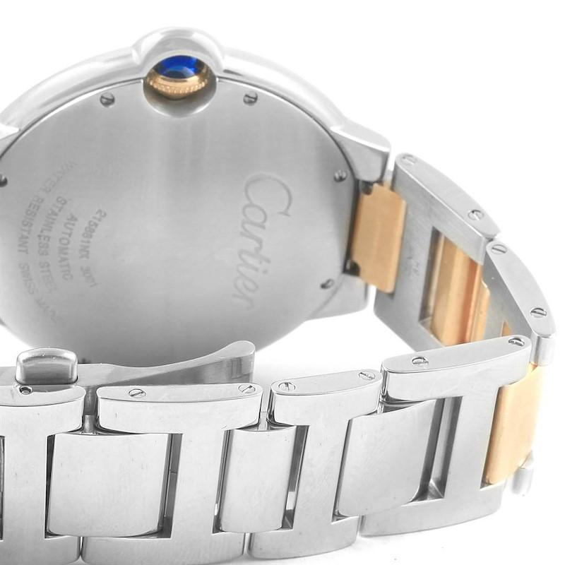 Cartier Ballon Bleu Steel 18K Yellow Gold Unisex Watch W69009Z3 SwissWatchExpo