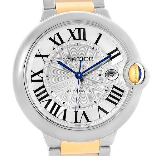 Photo of Cartier Ballon Bleu Steel 18K Yellow Gold Unisex Watch W69009Z3