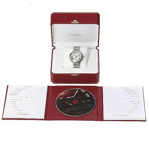 2281 Cartier Ballon Bleu Ss Large Men's Watch W69012z4 SwissWatchExpo
