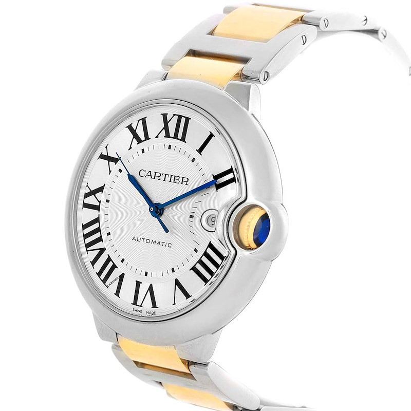 Cartier Ballon Bleu Steel Yellow Gold Mens Watch W69009Z3 Box Papers SwissWatchExpo