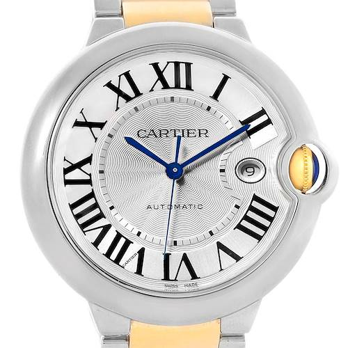 Photo of Cartier Ballon Bleu Steel Yellow Gold Mens Watch W69009Z3 Box Papers