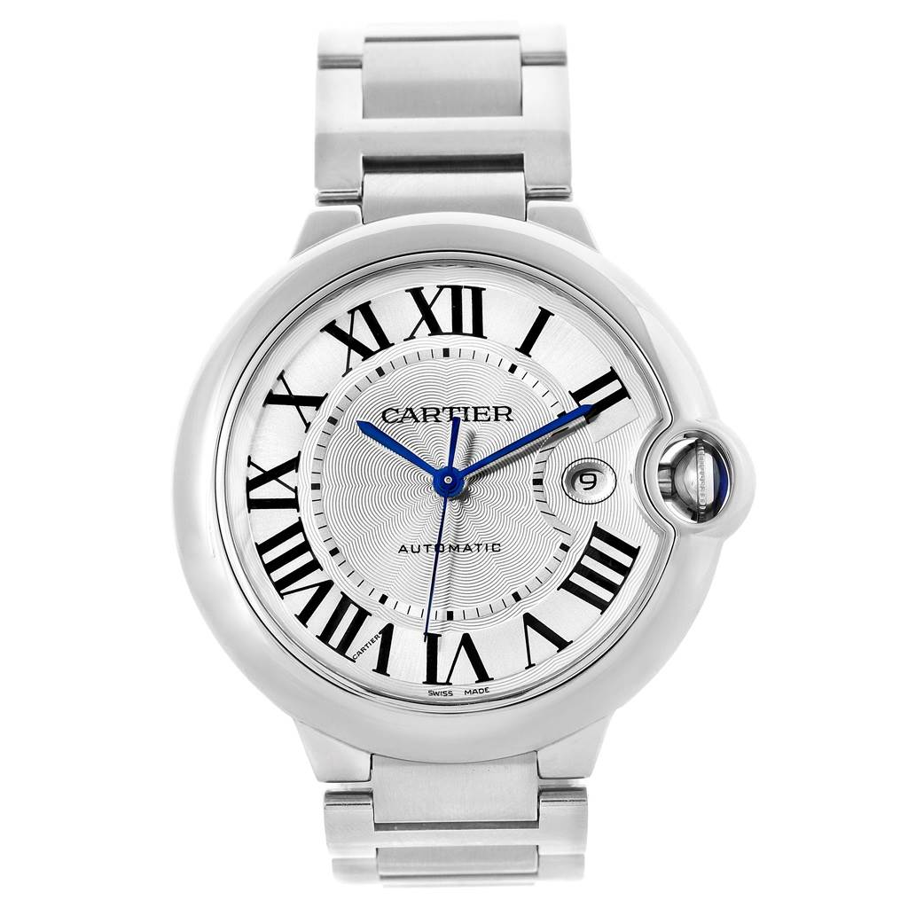18701 Cartier Ballon Bleu Mens Stainless Steel Automatic Watch W69012Z4 SwissWatchExpo