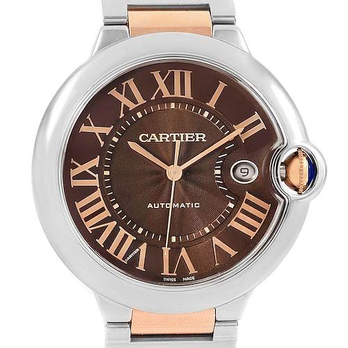Photo of Cartier Ballon Bleu Steel Rose Gold Brown Dial Unisex Watch W6920032