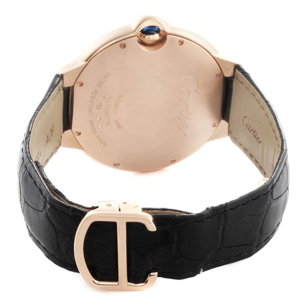 22137 Cartier Ballon Bleu 42 Rose Gold Automatic Mens Watch WGBB0017 Box Papers SwissWatchExpo