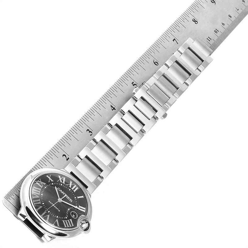 Cartier Ballon Bleu 42 Black Dial Steel Mens Watch W6920042 SwissWatchExpo