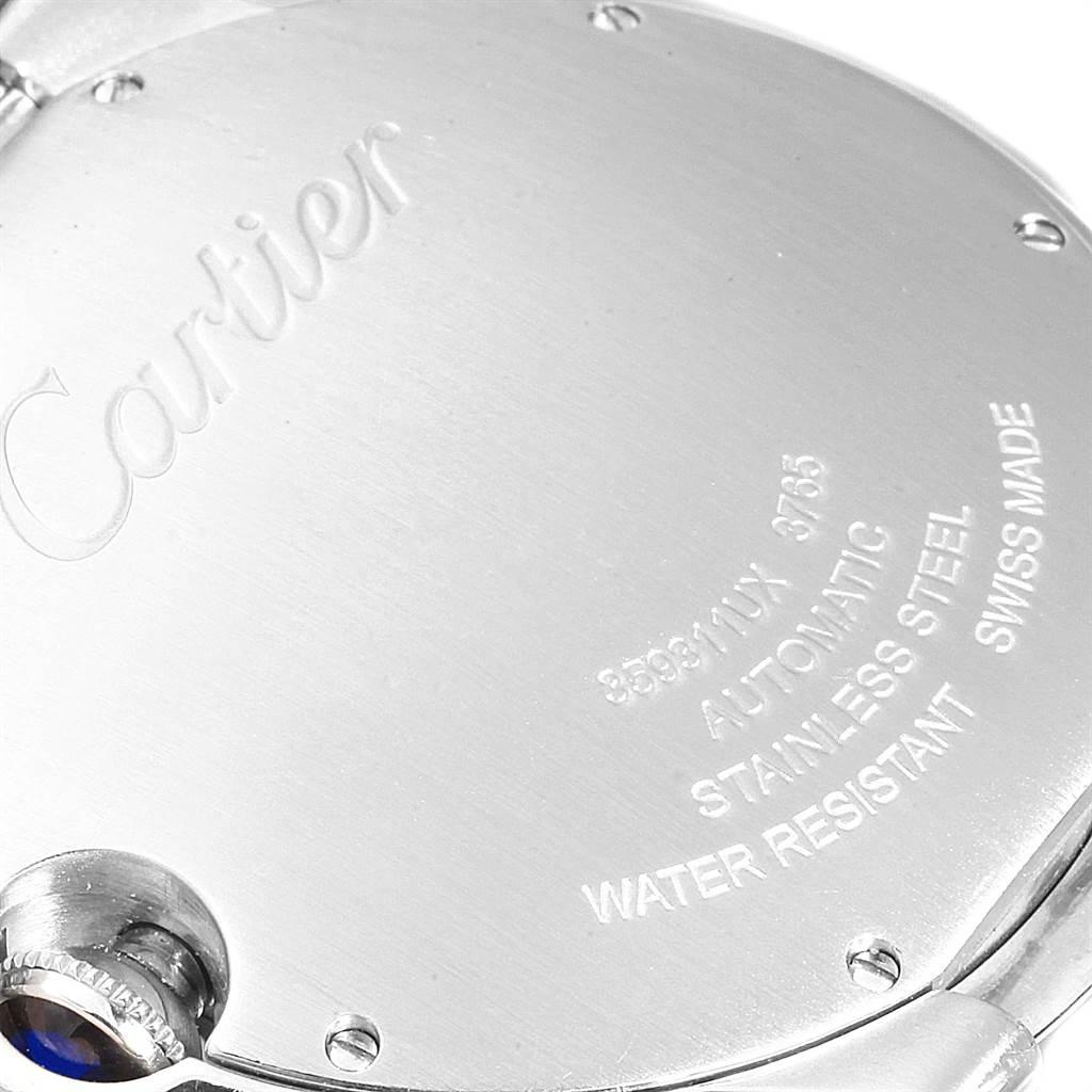 23004 Cartier Ballon Bleu 42 Black Dial Steel Mens Watch W6920042 SwissWatchExpo