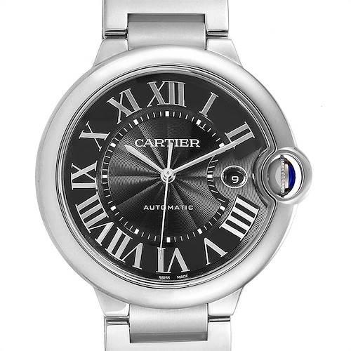 Photo of Cartier Ballon Bleu 42 Black Dial Steel Mens Watch W6920042