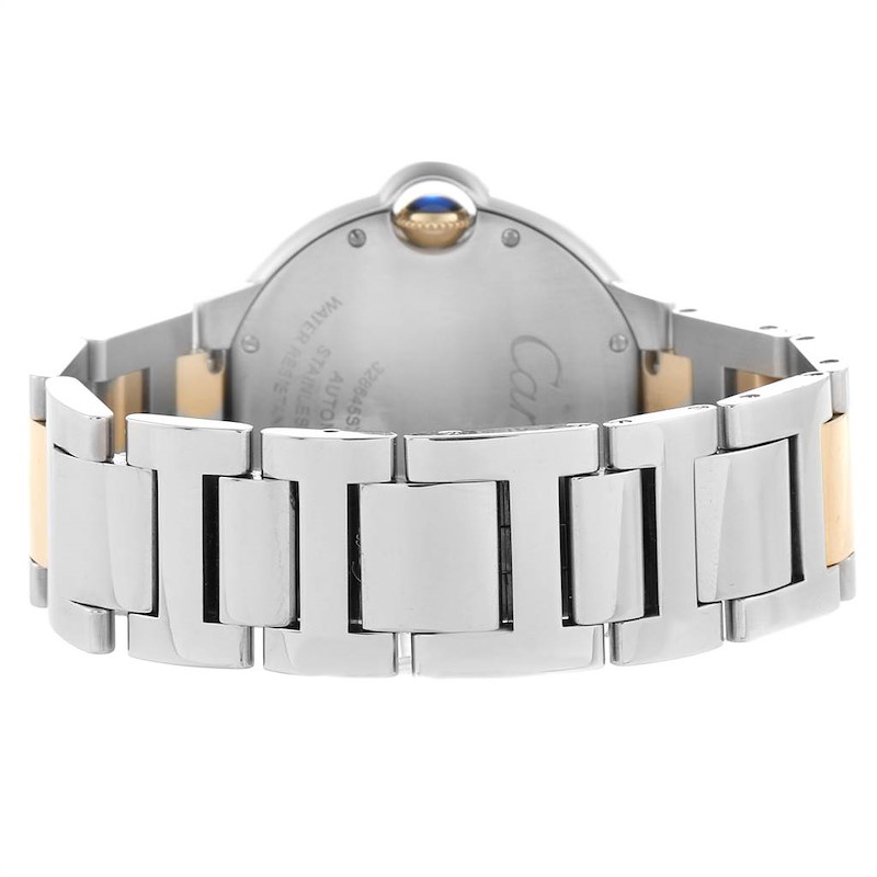 Cartier Ballon Bleu Midzize 36 Steel Yellow Gold Unisex Watch W2BB0012 SwissWatchExpo