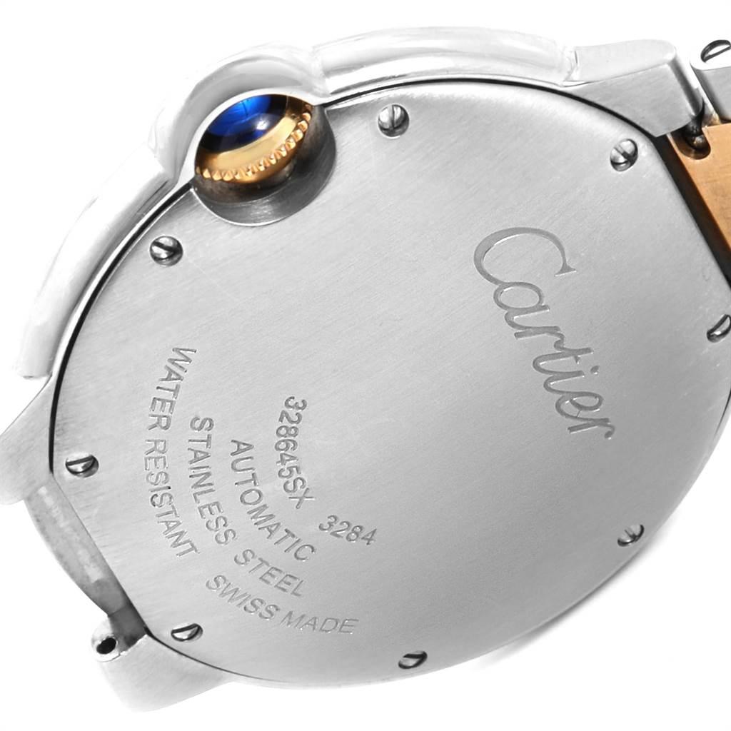 23257 Cartier Ballon Bleu Midzize 36 Steel Yellow Gold Unisex Watch W2BB0012 SwissWatchExpo