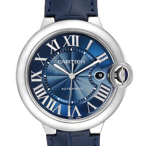 Photo of Cartier Ballon Bleu 42 Automatic Blue Dial Mens Watch WSBB0025 Unworn