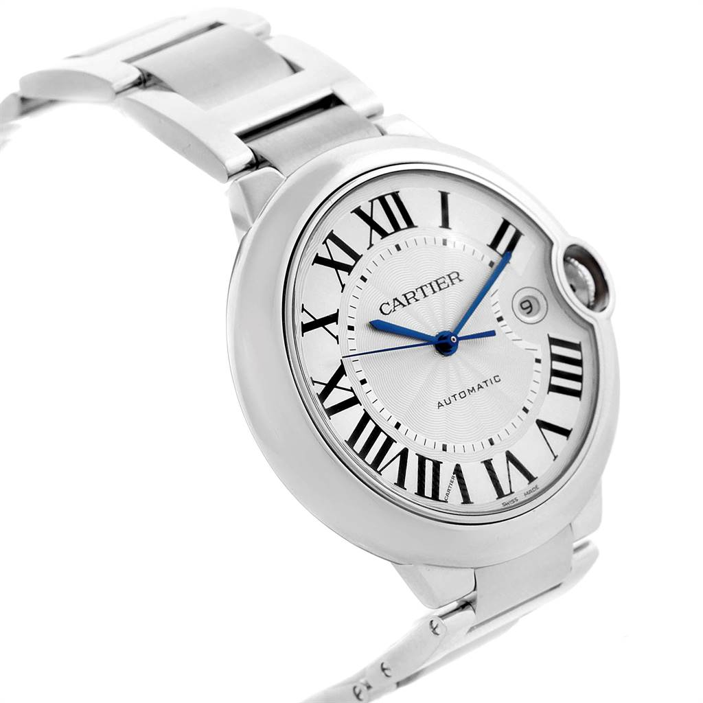 24224 Cartier Ballon Bleu 42 Silver Dial Automatic Steel Mens Watch W69012Z4 SwissWatchExpo