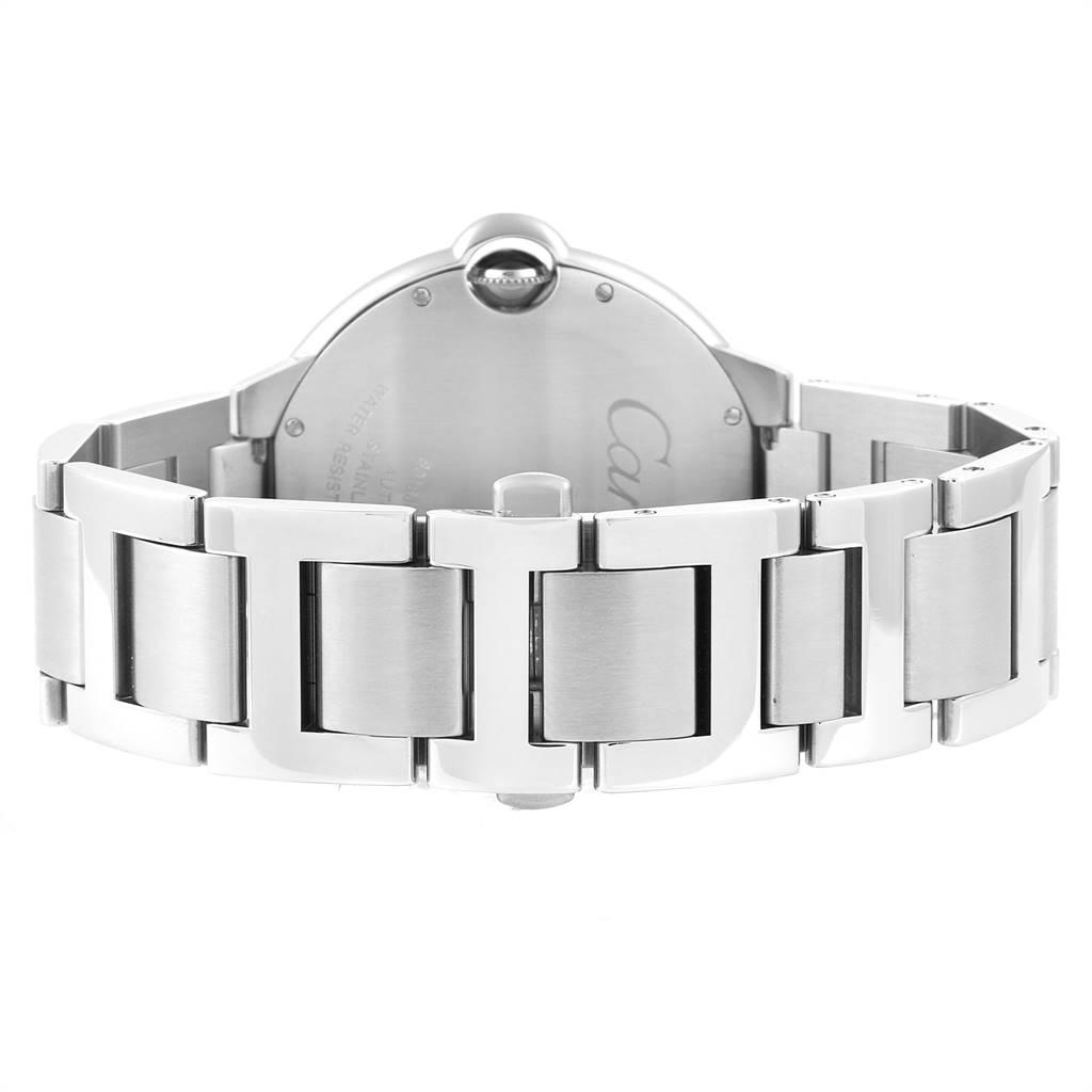 Cartier Ballon Bleu 42 Silver Dial Automatic Steel Mens Watch W69012Z4 SwissWatchExpo
