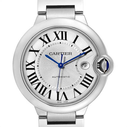 Photo of Cartier Ballon Bleu 42 Silver Dial Automatic Steel Mens Watch W69012Z4