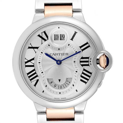 Photo of Cartier Ballon Bleu Steel Rose Gold Two Time Zones Watch W6920027