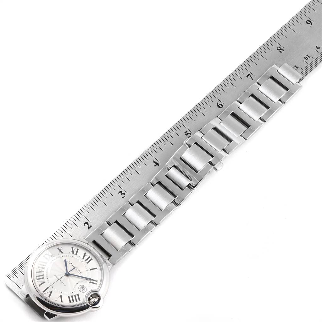 Cartier Ballon Bleu 42 Silver Dial Automatic Steel Mens Watch W69012Z4 PARTIAL PAYMENT SwissWatchExpo