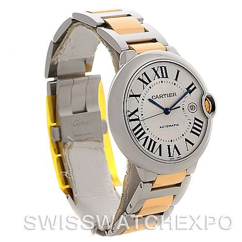 Cartier Ballon Blue Steel and Gold Watch W69009z3 SwissWatchExpo
