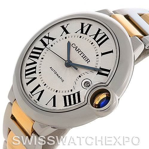 2742 Cartier Ballon Blue Steel and Gold Watch W69009z3  SwissWatchExpo