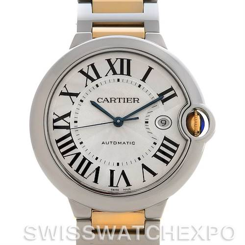 Photo of Cartier Ballon Blue Steel and Gold Watch W69009z3