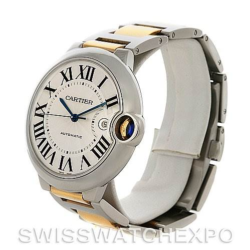 2894 Cartier  Ballon Bleu Steel & Gold Men's Watch W69009Z3 SwissWatchExpo