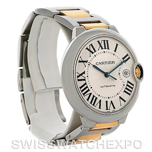 Cartier  Ballon Bleu Steel & Gold Men's Watch W69009Z3 SwissWatchExpo