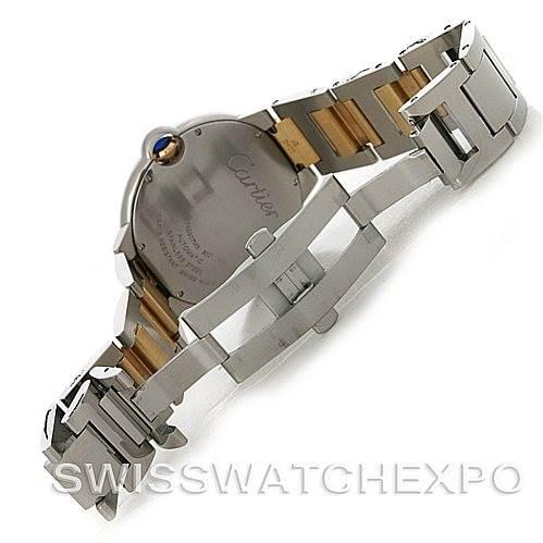 4384 Cartier Ballon Bleu Steel & Gold Men's Watch W69009Z3 SwissWatchExpo