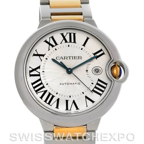 Photo of Cartier Ballon Bleu Steel & Gold Men's Watch W69009Z3