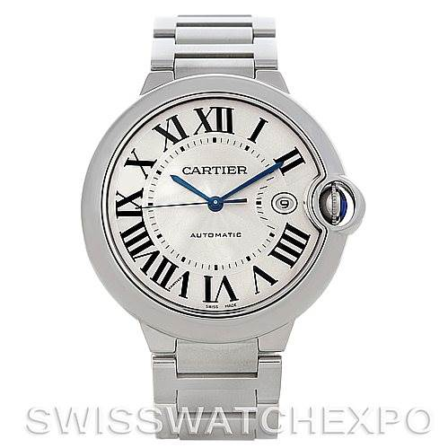 4668P Cartier Ballon Bleu Steel Men's Watch W69012Z4 SwissWatchExpo