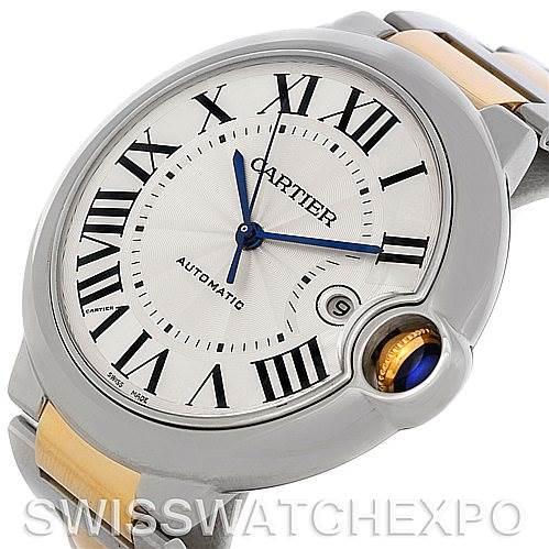 4669P Cartier Ballon Bleu Steel Gold Mens Watch W69009Z3 SwissWatchExpo
