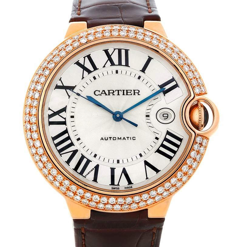 5425 Cartier Ballon Bleu 18K Rose Gold Diamond Men's Watch W6900651 SwissWatchExpo