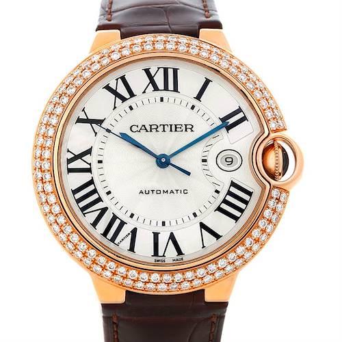 Photo of Cartier Ballon Bleu 18K Rose Gold Diamond Men's Watch W6900651