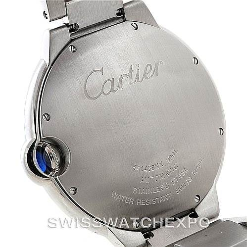 7280 Cartier Ballon Bleu Steel Mens Watch W69012Z4 SwissWatchExpo