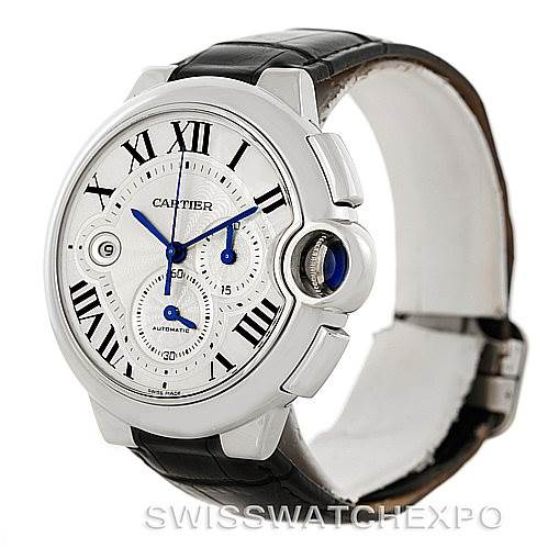 7494 Cartier Ballon Bleu Steel Mens Chronograph Watch W6920003 SwissWatchExpo