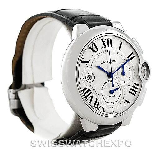7494 Cartier Ballon Bleu Steel Mens Chronograph Watch W6920003 SwissWatchExpo